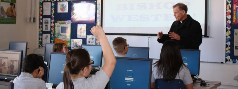 Archbishop Wester visits OLA School